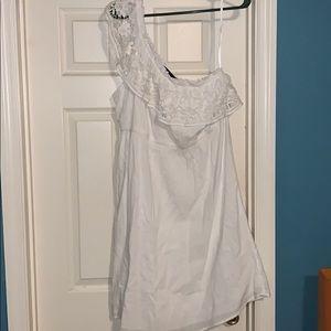 Lane Bryant one shoulder white dress NWT 18/20